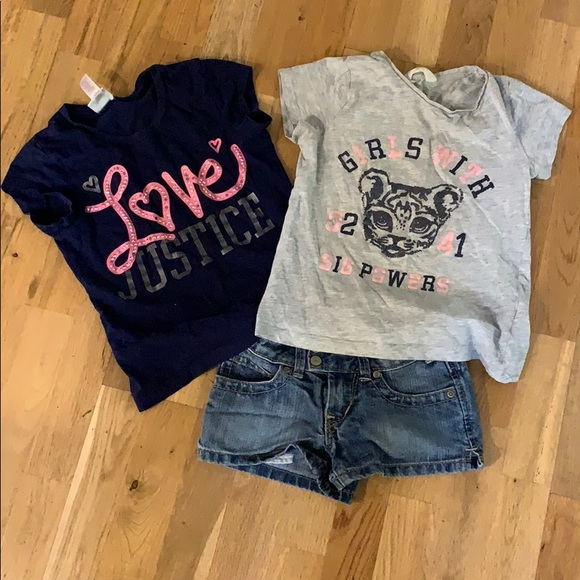 New 2 Shirts, Shorts Girls Under Armour Summer 3 pc Lot//Outfit - Size 6